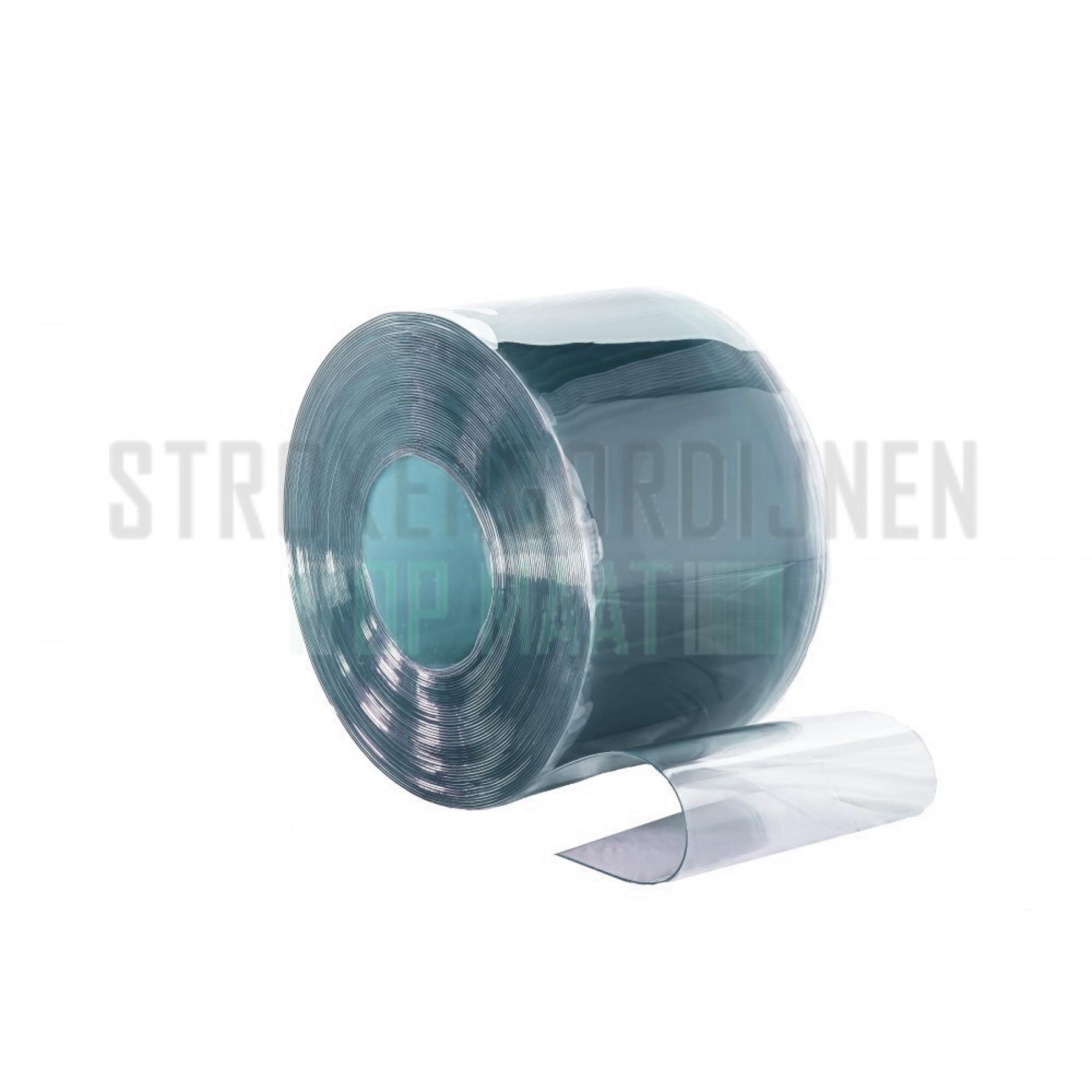 PVC Rolle, Brandschutz B1, 200mm breit, 2mm dick, 50 meter lang, transparent