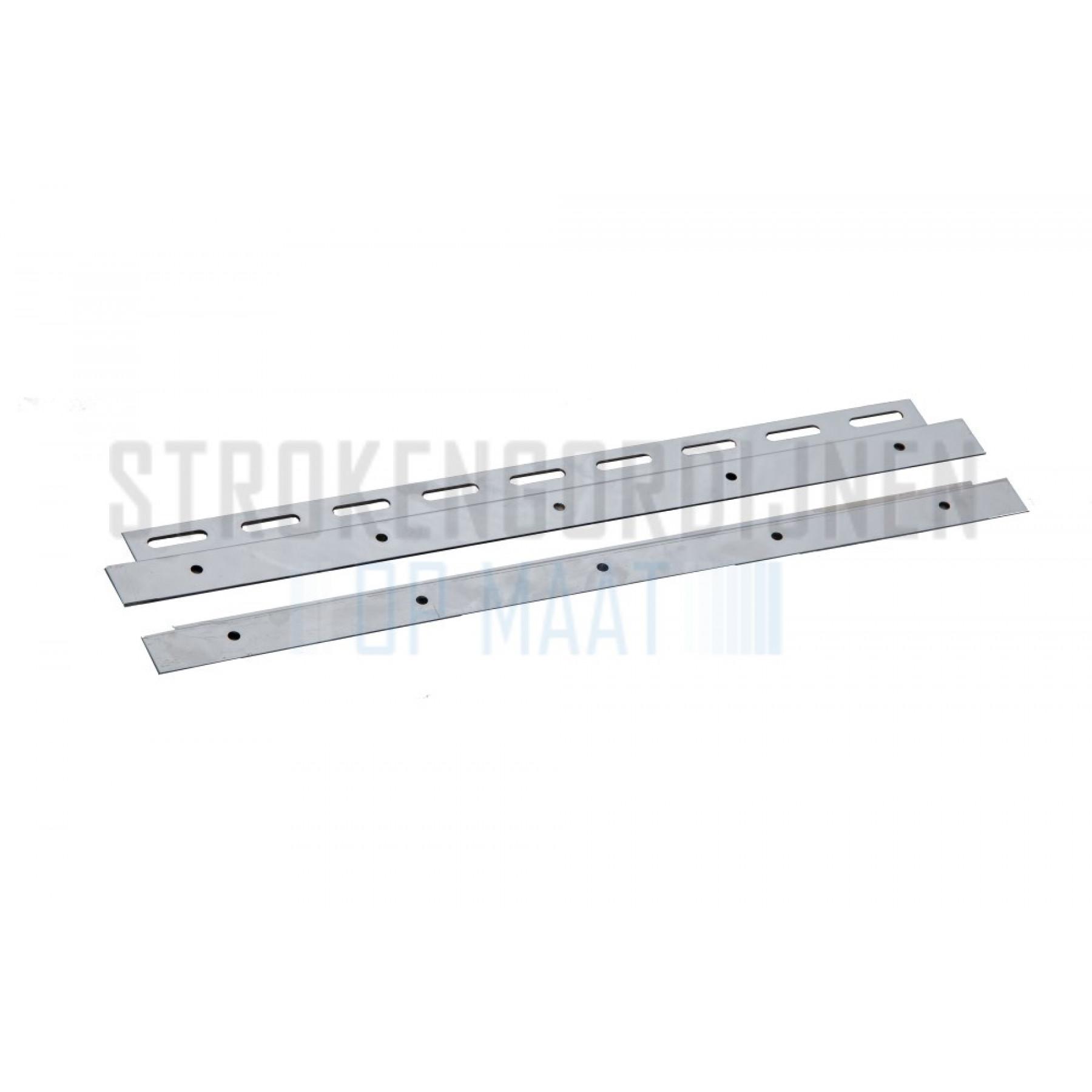 Klemmleiste für Streifen, 400mm breit, Rostfrei-Stahl