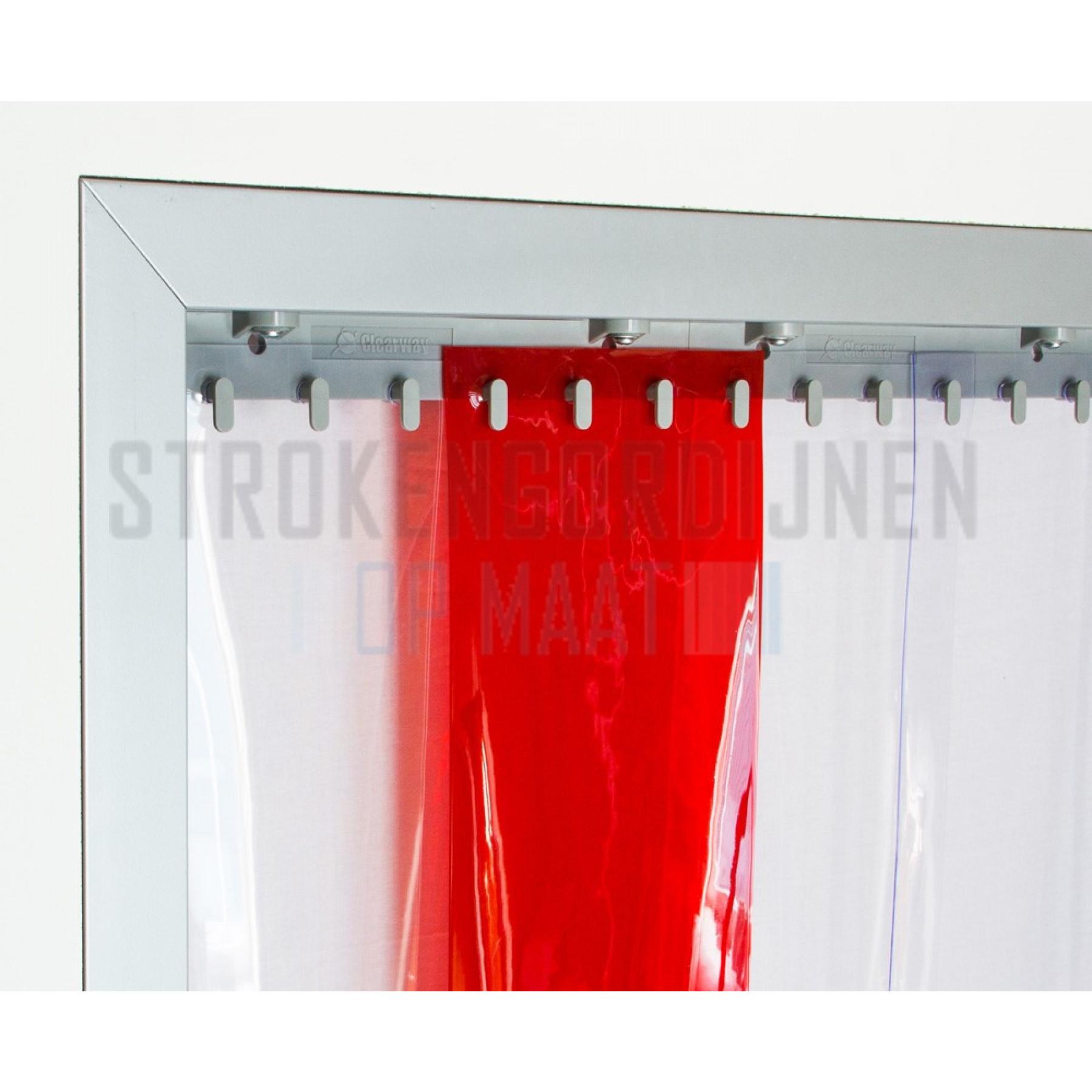 pvc rolle 400mm breit 4mm dick 50 meter lang farbe rot transparent in pvc streifen. Black Bedroom Furniture Sets. Home Design Ideas