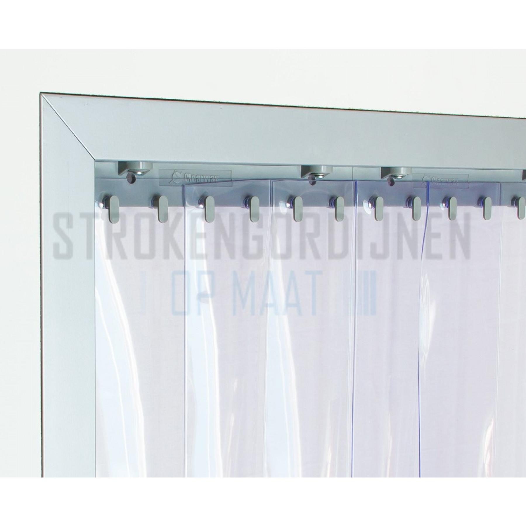 PVC Streifen zur Renovierung, 200mm breit, 2mm dick, Tiefkühlraum Qualität, transparent
