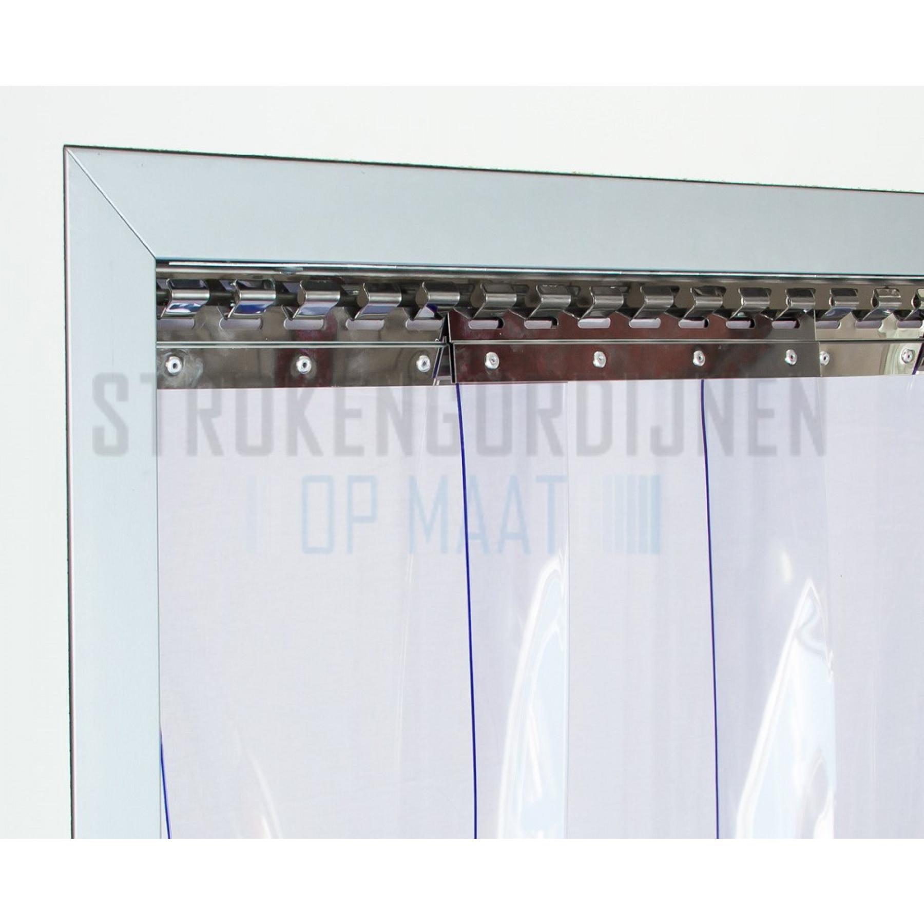 PVC Streifen zur Renovierung, 300mm breit, 3mm dick,Super Tiefkühlraum Qualität, transparent