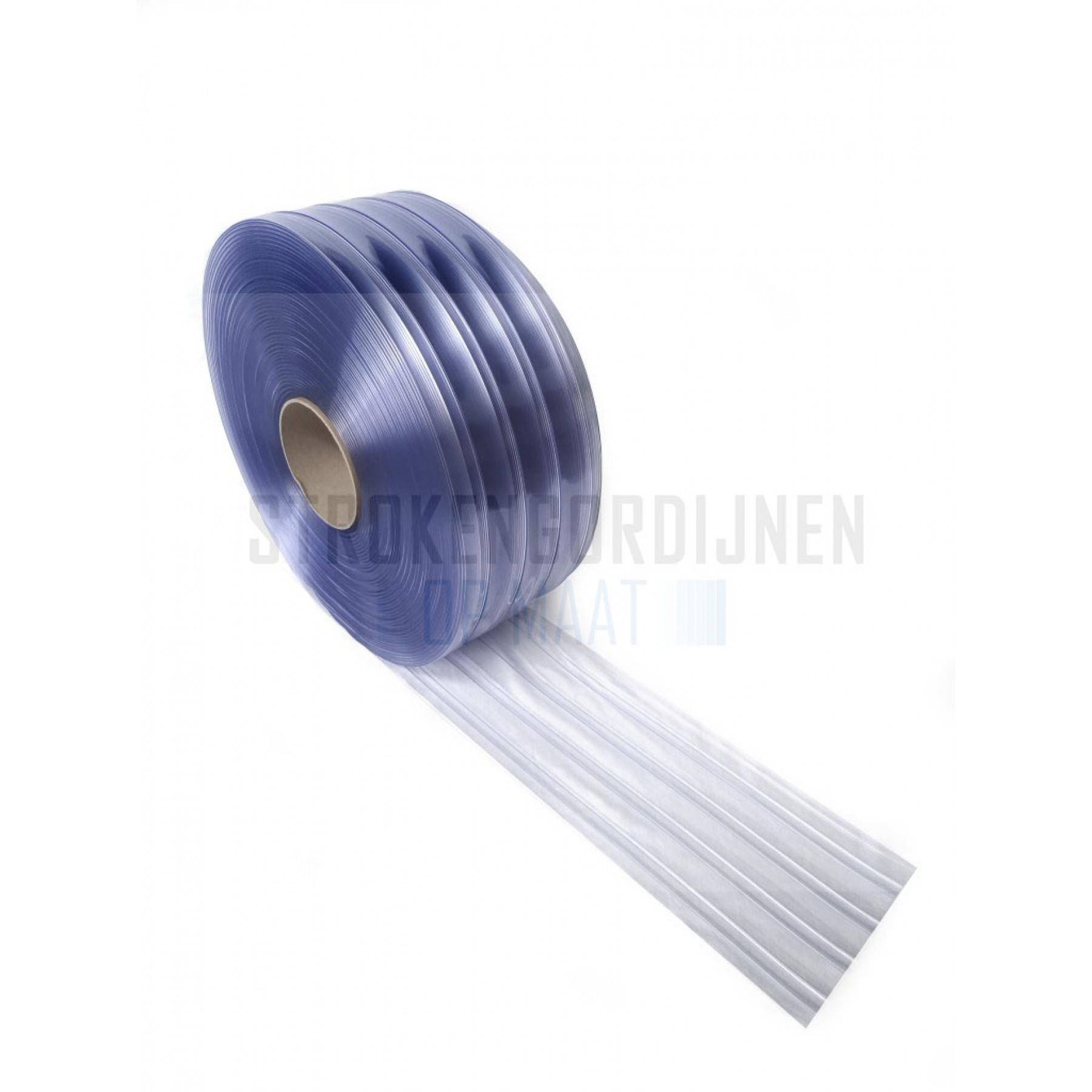 PVC Ribbed Rolle, 300mm breit, 3mm dick, 50 Meter lang, Tiefkühlraum Qualität, transparent