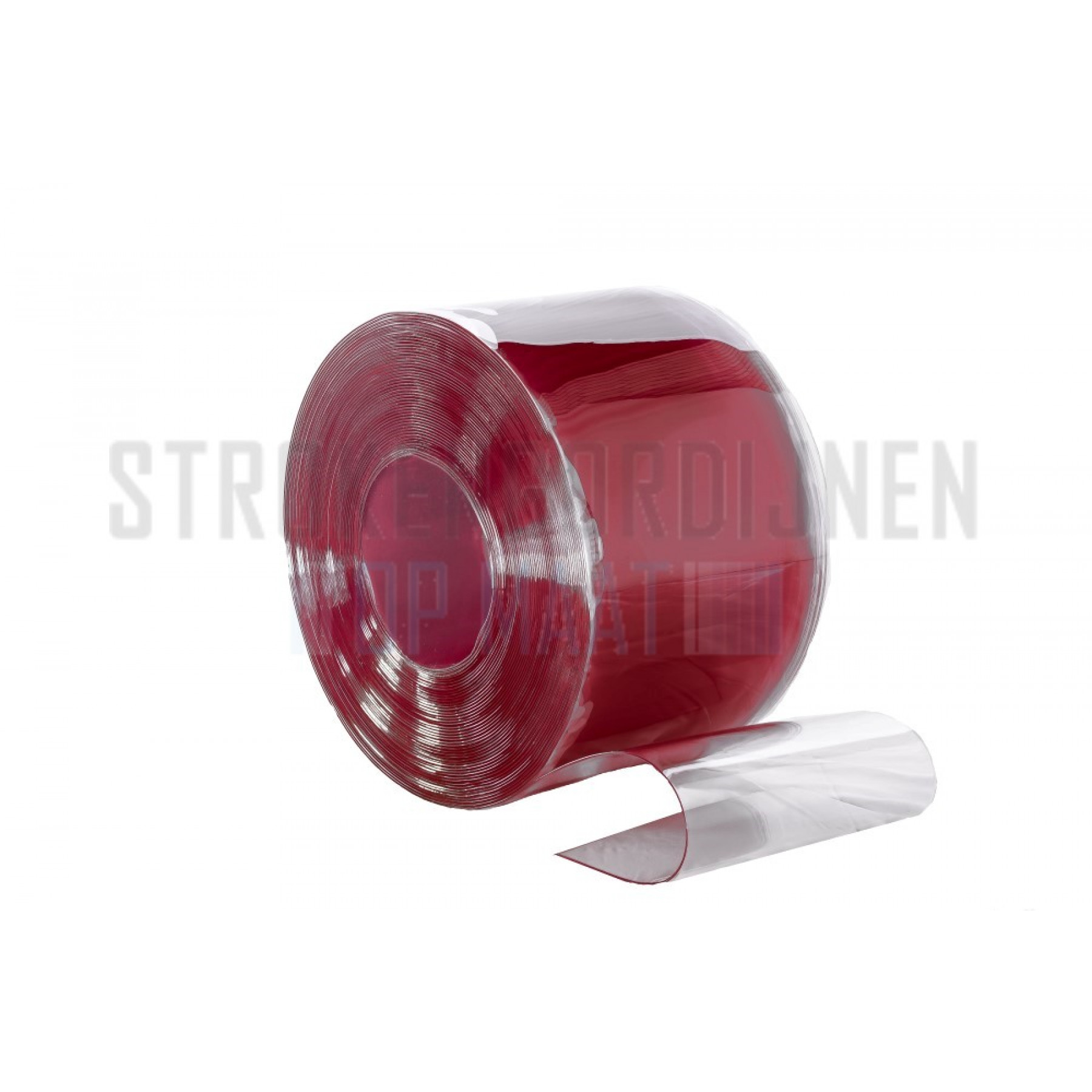 PVC Rolle, 300mm breit, 3mm dick, 50 Meter lang, Farbe Rot, transparent