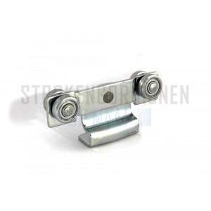Innenlaufrollen mit 4 Röllchen für die verstellbare Schiene