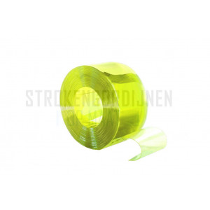 PVC Rolle, 200mm breit, 2mm dick, 50 Meter lang, Insektenschutz, Gelb transparent