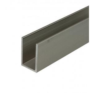 Aluminium U-Profil verstellbare Schiene, 3 Meter lang